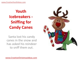 Youth Icebreakers - Sniffing for Candy Canes