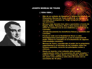 JOSEPH MOREAU DE TOURS    1804-1884