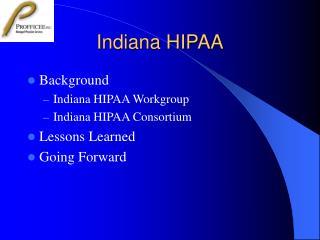 Indiana HIPAA