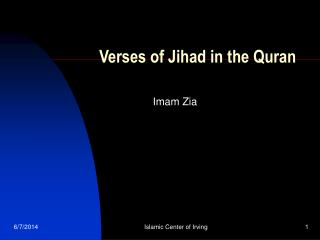 Verses of Jihad in the Quran