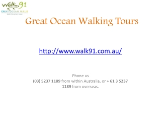 Great Ocean Walk Walking Tours