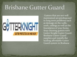 Gutter Guard Brisbane