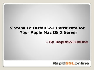 5 Steps To Install SSL Certificate On Apple MAC OSX Server