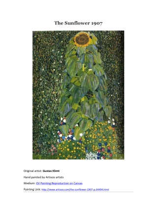 The Sunflower 1907--Artisoo