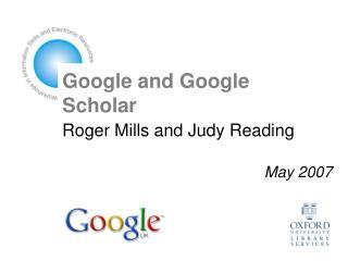 Google and Google Scholar