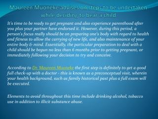 Maureen Muoneke advises on steps to be undertaken while deci