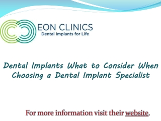 Dental Implants What to Consider When Choosing a Dental Impl