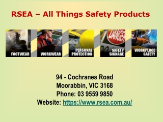 RSEA - All Things Safety Products in Australia
