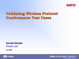 Validating Wireless Protocol Conformance Test Cases