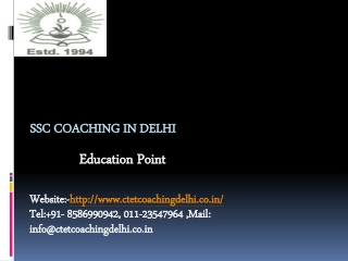 SSC Coaching Delhi