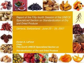 Report of the Fifty-fourth Session of the UNECE Specialized Section on Standardization of Dry and Dried Produce  Geneva,