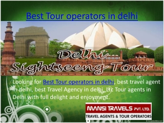 Best tour oparator in delhi