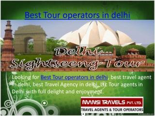 Best tour oparator in delhi