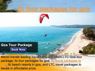 ltc tour packages for goa