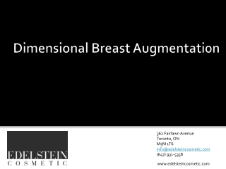 Dimensional Breast Augmentation Toronto Plastic Surgeon