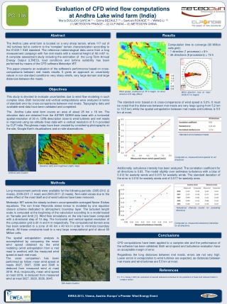 Wind resource assessment on a complex terrain: Andhra Lake p