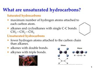 What are unsaturated hydrocarbons