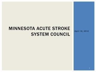 Minnesota Acute Stroke System Council