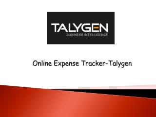 Online Expense Tracker - Talygen