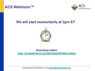 ACS Webinars