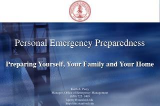 Personal Emergency Preparedness