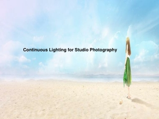 Continuous Lighting for Studio Photography