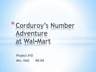 Corduroy s Number Adventure  at Wal-Mart