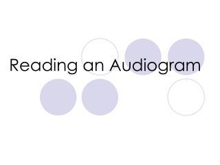 Reading an Audiogram