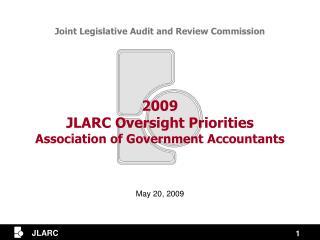 2009 jlarc oversight priorities association of government accountants