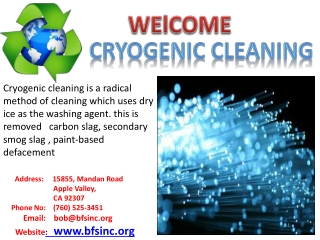 Cryogenic cleaning