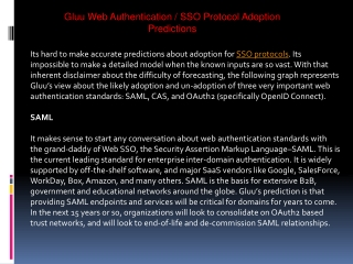 Gluu Web Authentication / SSO Protocol Adoption Predictions