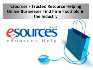 Esources - Trusted Resource Helping Online Businesses