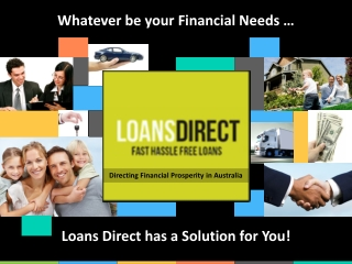 Loans Direct Australia - Find The Best Loan Rates