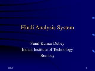 Hindi Analysis System