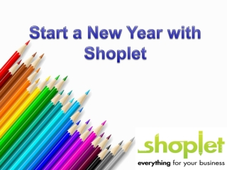 Start a New Year of Shoplet