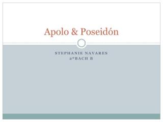 Apolo y Poseidón