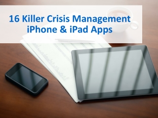 Killer Crisis Management Apps for iPhone