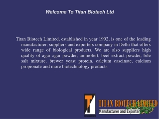 Benefit Of Biological Products Manufacturers Industry
