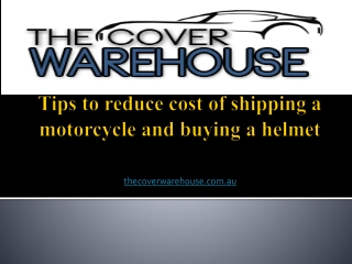 Tips to reduce cost of shipping a motorcycle and buying a he