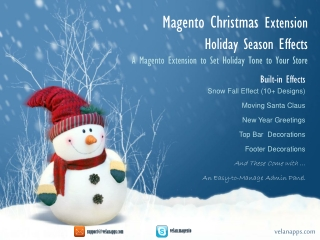 Magento Christmas Extension Holiday Season Effects