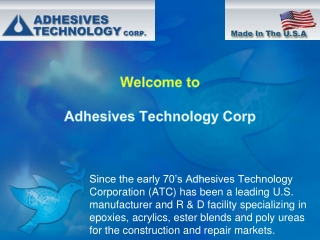 Adhesives Technology Corp