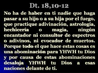 Dt. 18,10-12