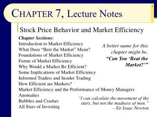 CHAPTER 7, Lecture Notes