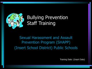 Bullying Prevention Staff Training