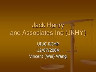 Jack Henry  and Associates Inc JKHY
