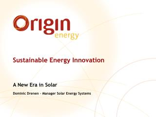 Sustainable Energy Innovation