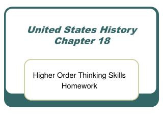 United States History Chapter 18