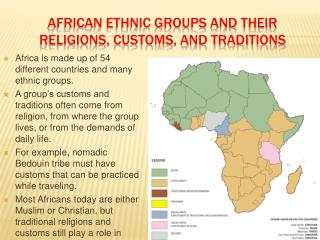 African ethnic groups and their  Religions, Customs, and Traditions