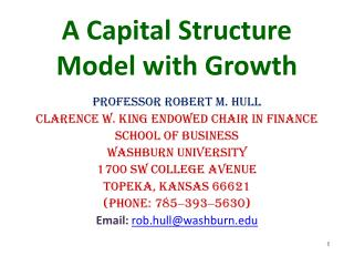 A Capital Structure Model with Growth
