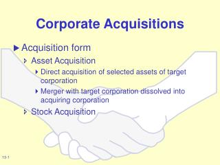 corporate acquisitions